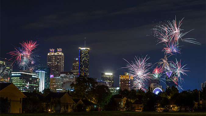 New Year's Eve in Atlanta, Georgia