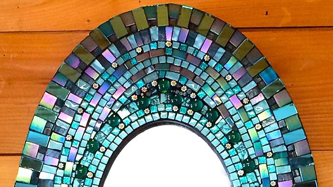 Snow Farm Mosaic Mirror