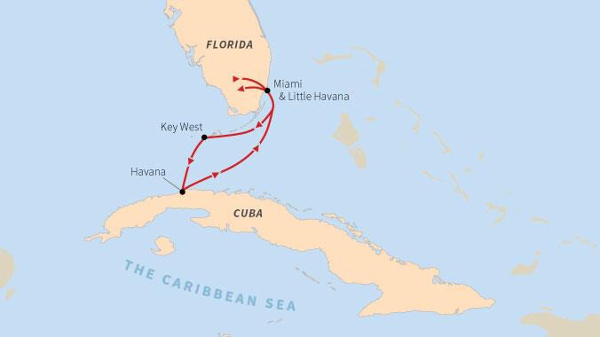 Cuba Florida Map.Hemingway Cuban American Relations Florida To Havana