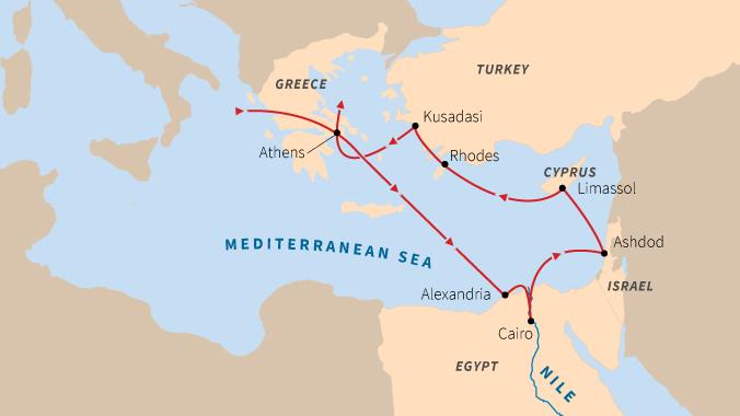 Mediterranean by ship - Greece, Turkey, Israel, Egypt