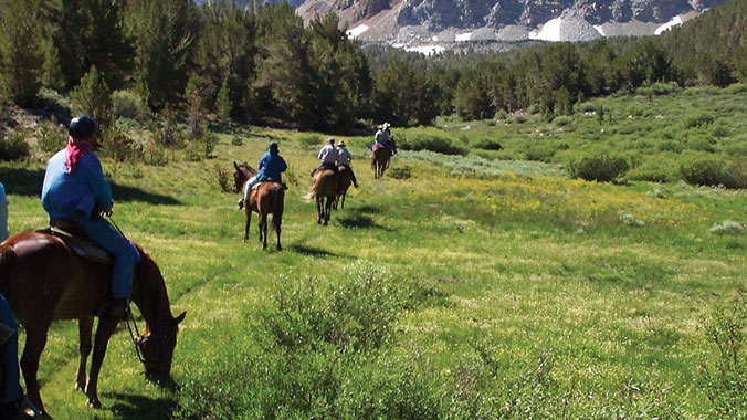 Sierra Nevada California, Horseback riding