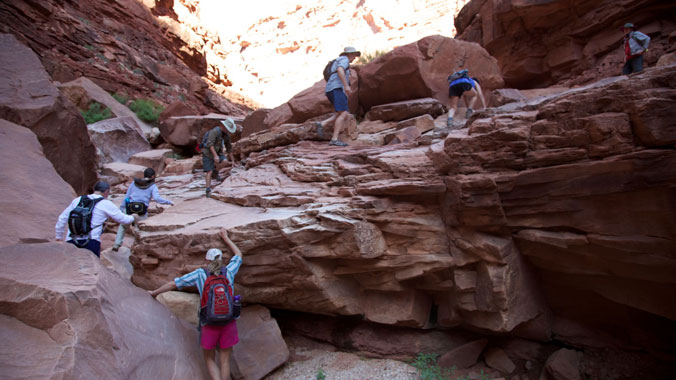 Hiking the Slick Rock, Slot Canyons and Red Rocks of Lake Powell