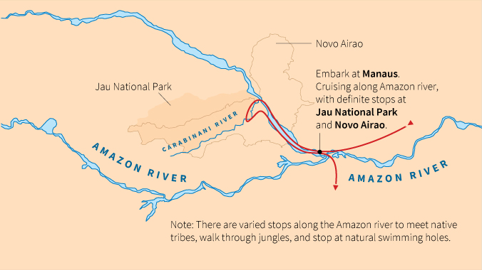 Amazon river grandchild tour