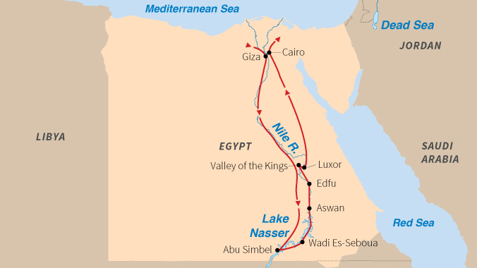 Cruising the Nile River in Egypt