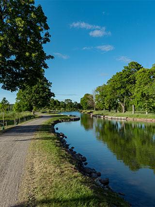 Biking Gota Canal in Sweden