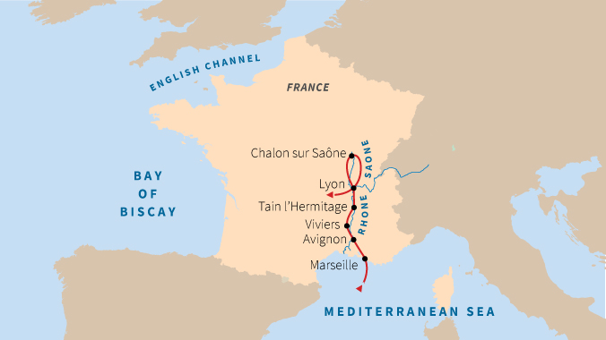 Marseille On Map Of France.Marseille And The Rhone River The Best Of Southern France