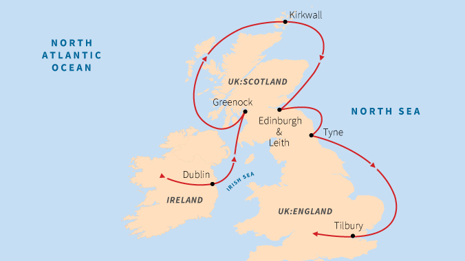 Odyssey at Sea: The Best of England, Ireland & Scotland