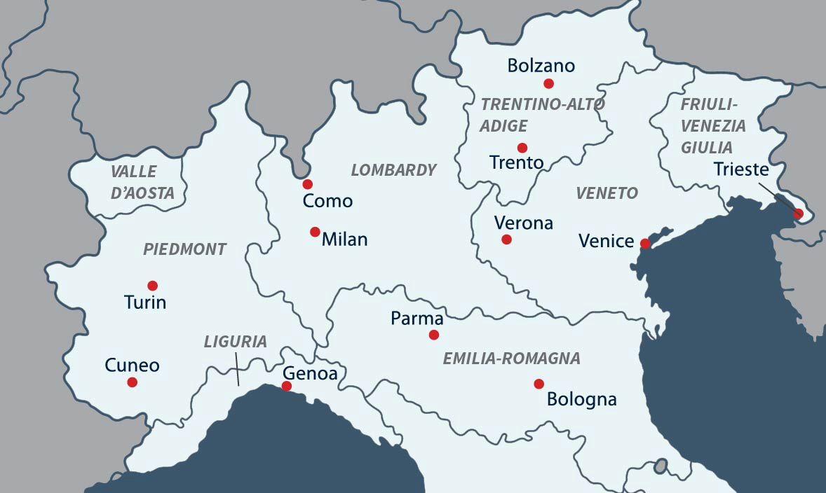 North Of Italy Map.Italy Geography Weather