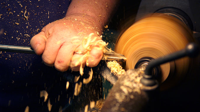 The Road Scholar Crafts Week at Snow Farm: Wood Turning