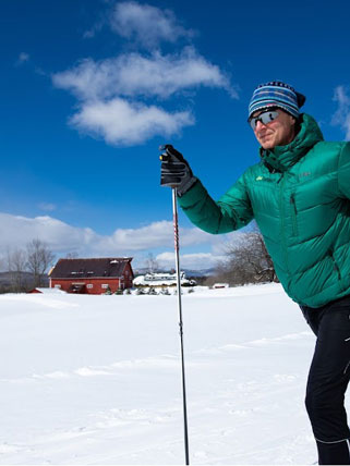 Cross-Country Skiing in Beautiful Rural Vermont