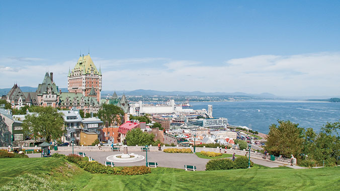 Quebec City and the St. Lawrence River