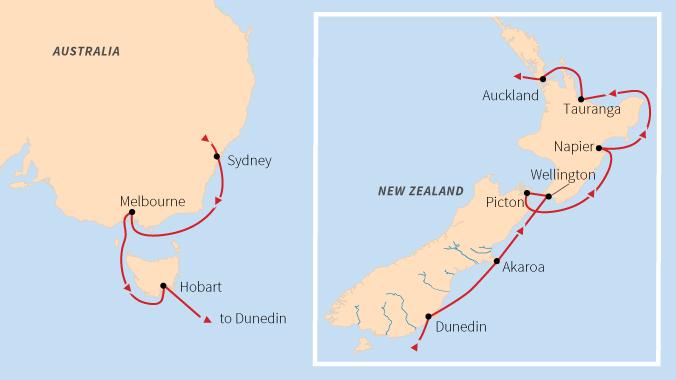 Map Of Australia New Zealand And Tasmania.New Zealand And Australia The People Down Under