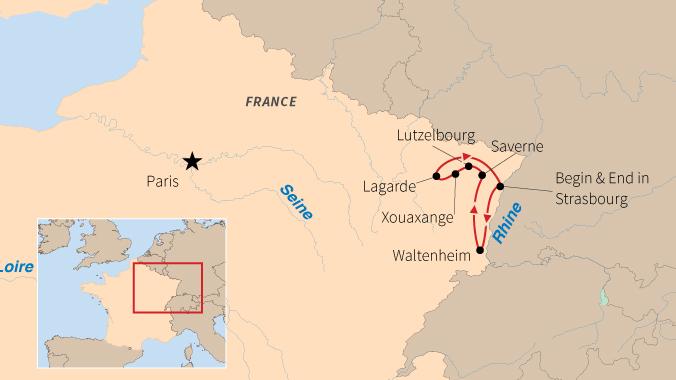 River Map Of France.Barge Travel In France Road Scholar
