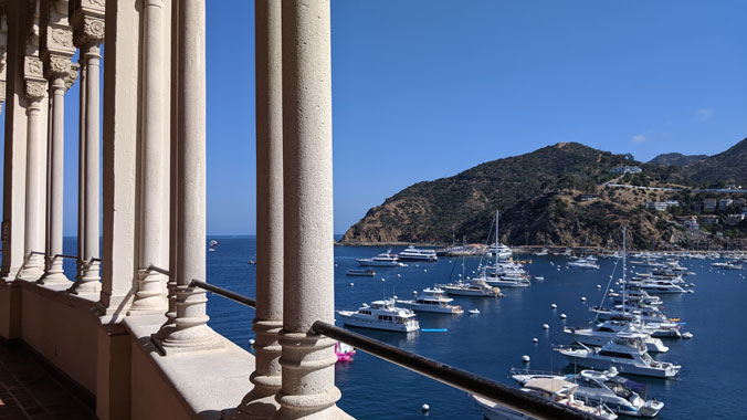 The R.M.S. Queen Mary and Catalina Island