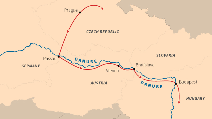 map of europe danube river Five Countries of Central Europe: Sailing the Danube River