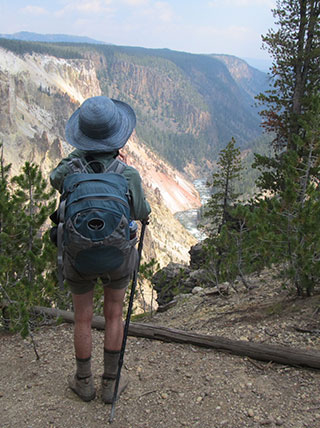 HIking Yellowstone National Park Montana