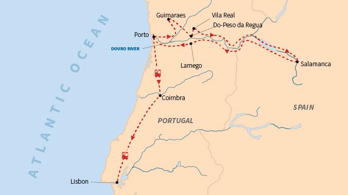 Douro River Map