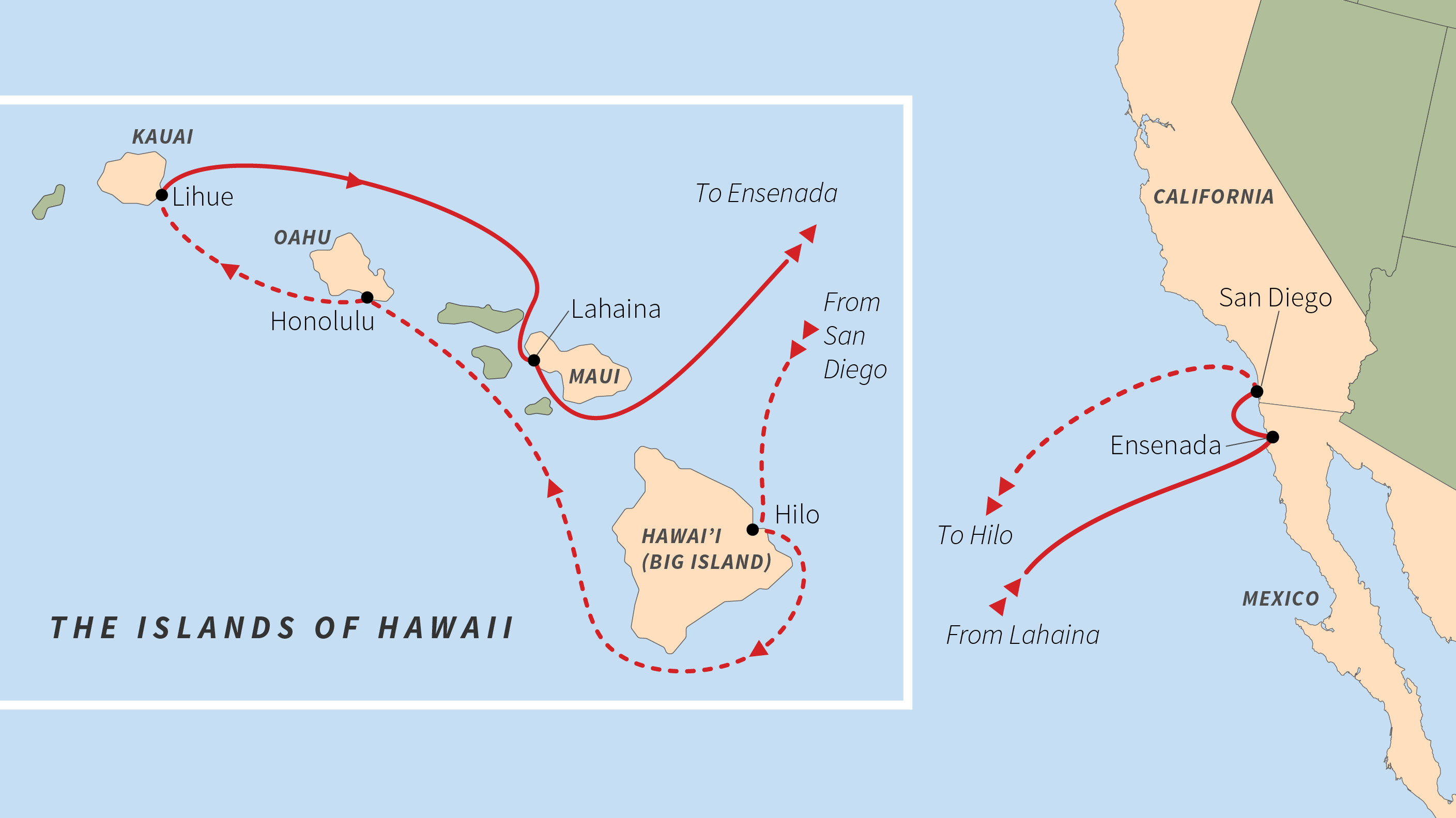 Map Of California And Hawaii.Hawaiian Nature Culture Travel Road Scholar